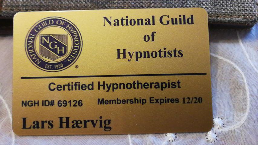 NHG Certificeret Hypnoterapeut. Lars Hærvig. Hypnose, Aalborg